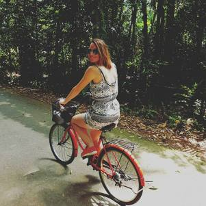 Cycling around Pulau Ubin