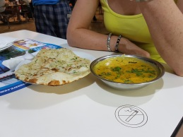 Daal and naan