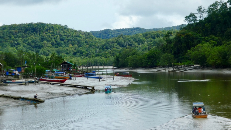 The view downstream from Bako Village